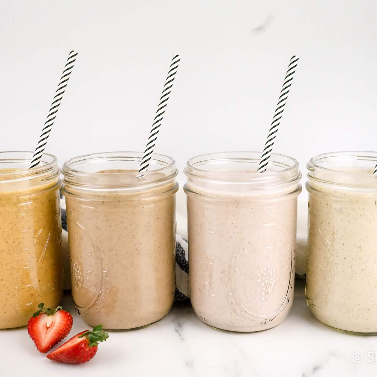 Four Overnight Oatmeal Smoothies Slender Kitchen