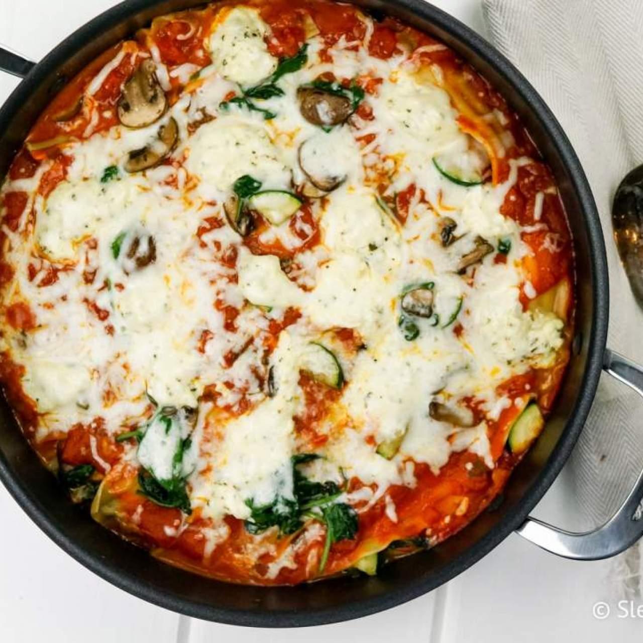 Skillet Vegetable Lasagna Slender Kitchen