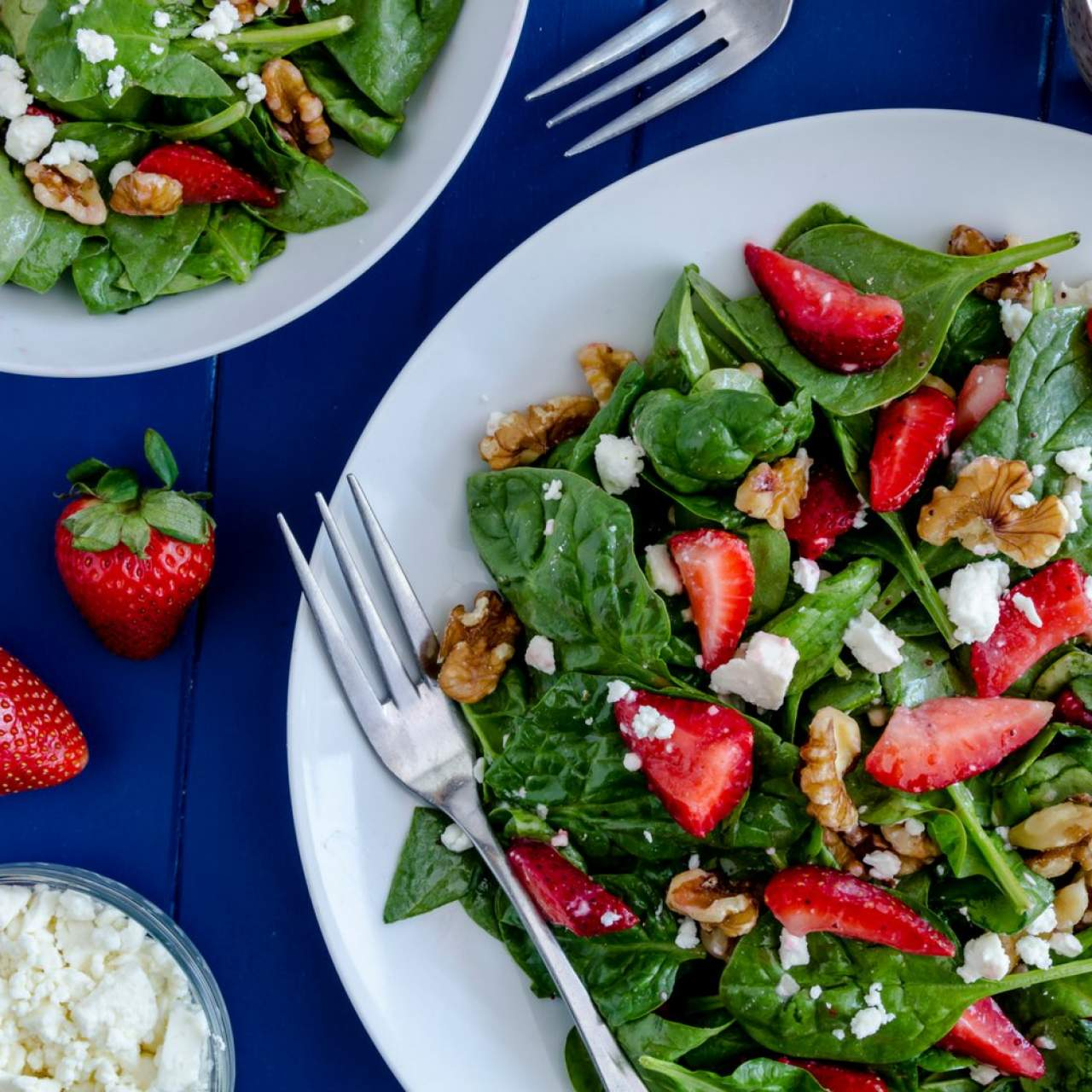 Strawberry Spinach Salad Slender Kitchen