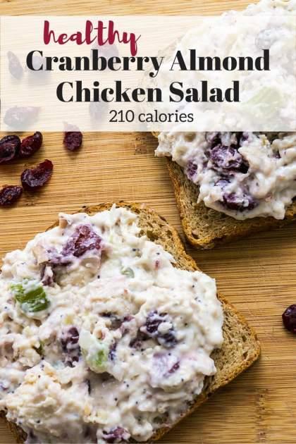 Healthy Cranberry Almond Chicken Salad Slender Kitchen