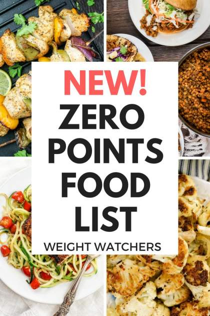 photograph relating to Printable Weight Watchers Points Plus Food List called Fresh Excess weight Watchers® Zero Info Food stuff Record - Freestyle Method