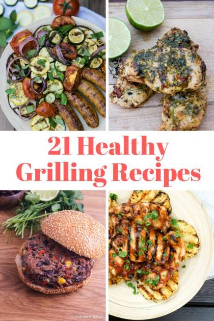 Check out these delicious and healthy grilling recipes to celebrate the warm weather and get outside. Grilling recipes for main courses, side dishes, vegetarian options, and more all with calorie info and points.