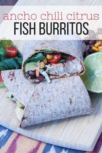 Ancho Chili Citrus Fish Burritos