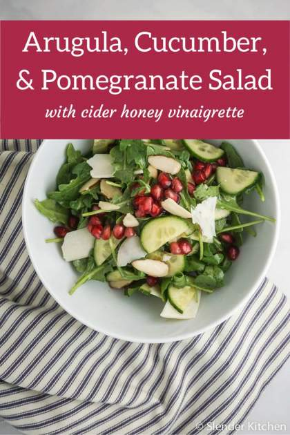 Arugula, Cucumber, and Pomegranate Salad
