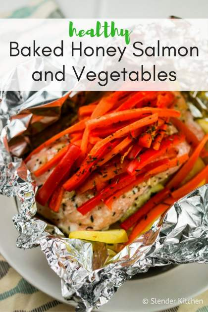 Baked Honey Salmon and Vegetables