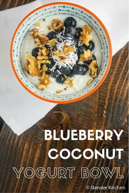 Blueberry Coconut Greek Yogurt Bowl