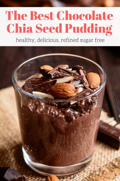 This Chocolate Chia Seed Pudding is creamy, full of chocolate flavor, and made without refined sugar. Enjoy this healthy treat for breakfast or dessert for a guilt-free chocolate treat.