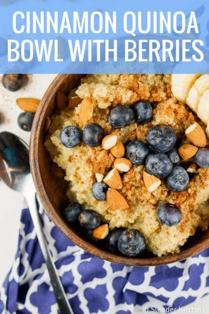 Cinnamon Quinoa Bowl with Berries