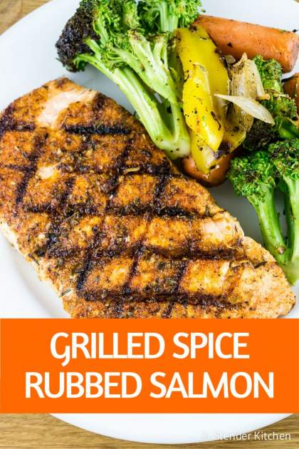 Grilled Spice Rubbed Salmon