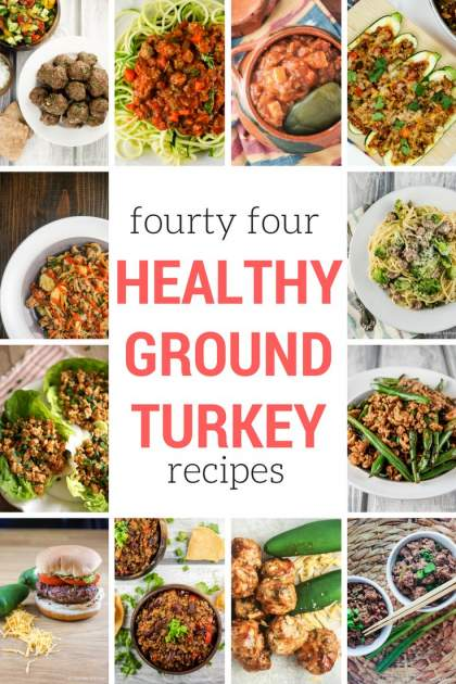 Healthy ground turkey recipes for every taste including awesome stir-fries, slow cooker recipes, burgers, soups, tacos, and more.