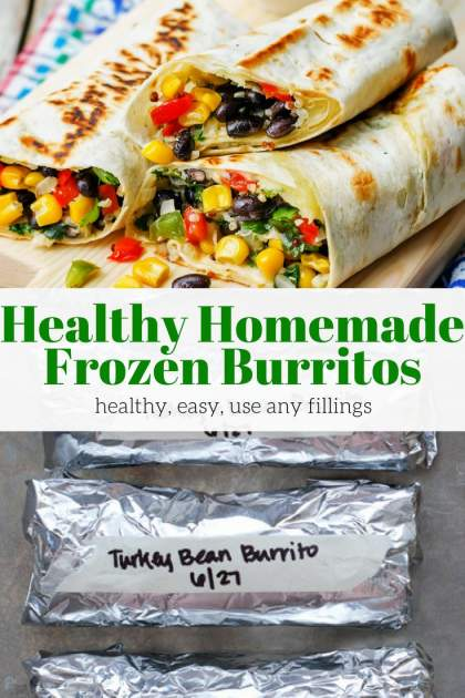 Healthy Homemade Frozen Burritos are better and affordable than store-bought. Fill them with your favorite ingredients for an easy meal.