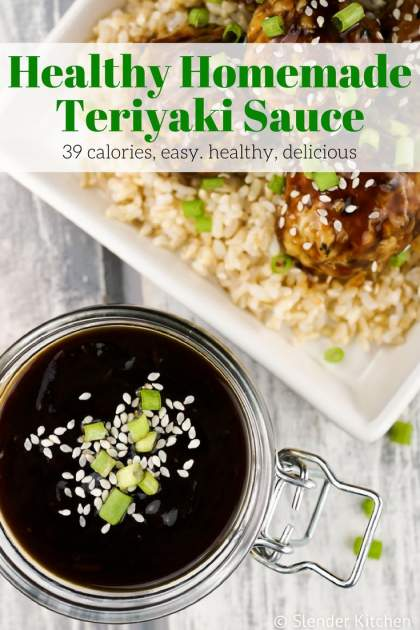 Healthy Homemade Teriyaki Sauce made with natural ingredients you already have. Better for you than store bought and ready in 10 minutes.