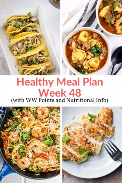 Healthy Meal Planning Made Easy:  Week 48 Meal Plans and Holiday Leftovers