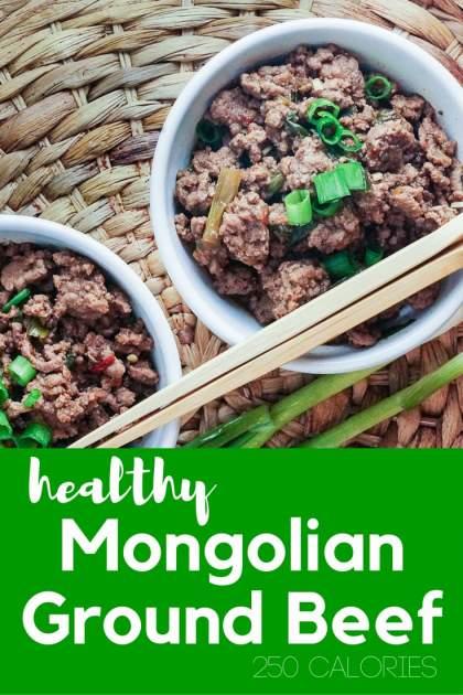 Healthy Mongolian Ground Beef