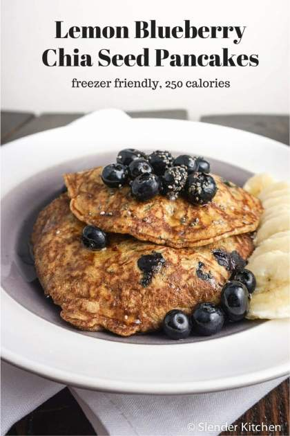 Lemon Blueberry Chia Pancakes