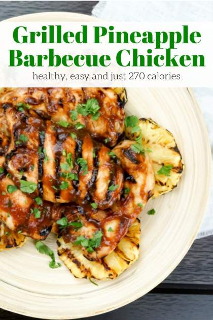 Grilled Pineapple Barbecue Chicken makes the most delicious grilled chicken packed with sweet and savory flavors with just a few ingredients.