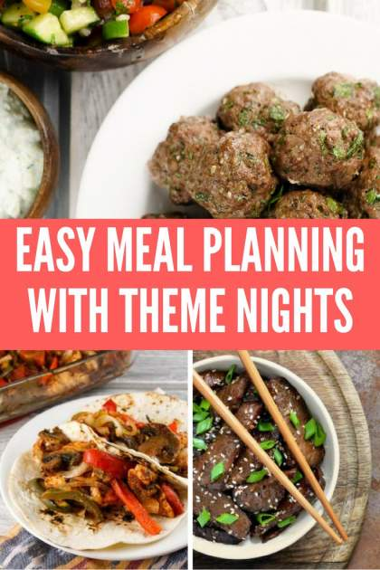 Easy Meal Planning With Theme Nights - Slender Kitchen