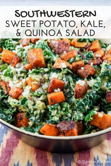 Southwestern Sweet Potato, Kale, and Quinoa Salad