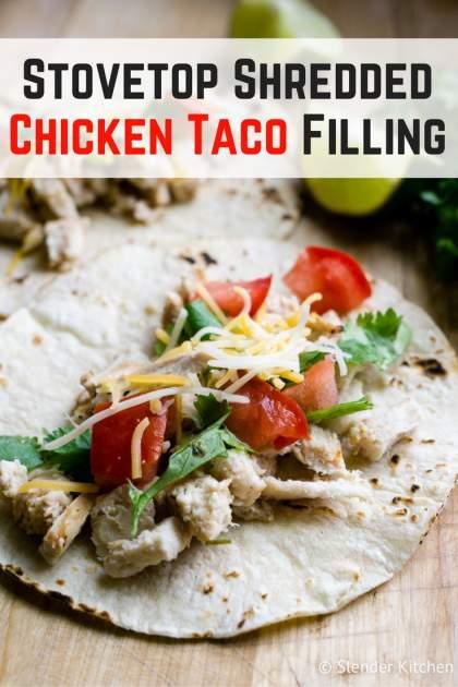 Stovetop Shredded Chicken Taco Filling