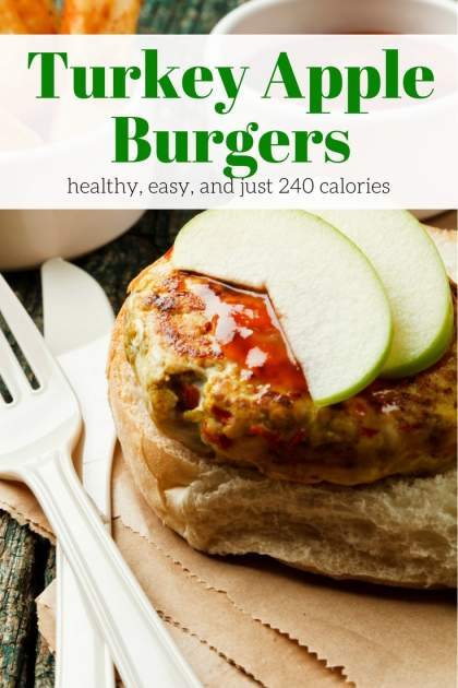 Turkey Apple Burgers with lean ground turkey, apples, and sage are a delicious twist on a turkey burger that's healthy and full of flavor.