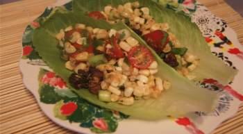 Corn BLT Lettuce Wraps