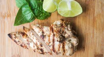 Grilled Basil Lime Chicken Breast