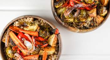 Honey Balsamic Roasted Vegetable Bowls