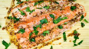 Maple Mustard Salmon is a quick and easy healthy dinner that is made with just three ingredients and is ready in under 20 minutes.