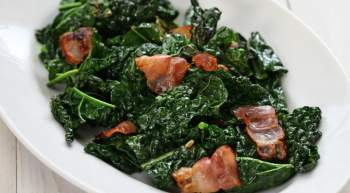 Sauteed Kale with Garlic and Bacon