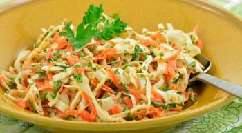 Skinny Tricolor Coleslaw