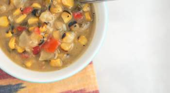 Sunday Slow Cooker Roasted Corn Chowder