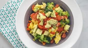 Veggie Scramble with Avocado