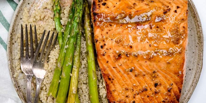 Easy Honey Garlic Broiled Salmon