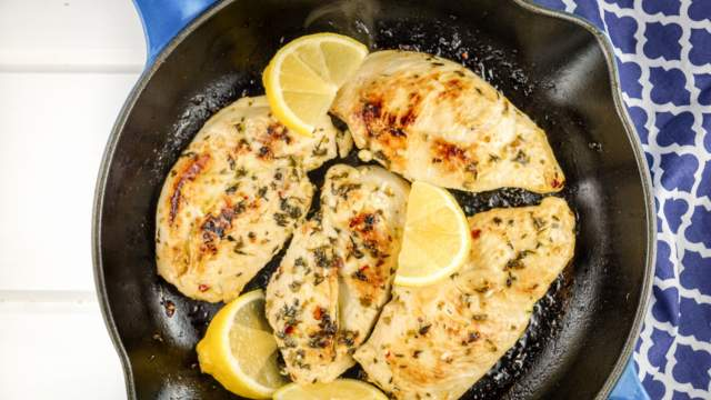 Skillet Lemon Oregano Chicken