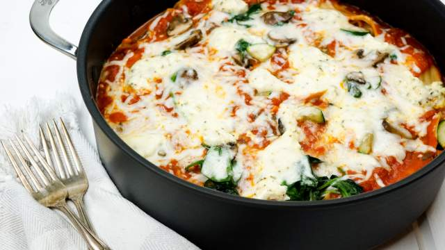 Stovetop Spinach and Mushroom Lasagna and a Giveaway!