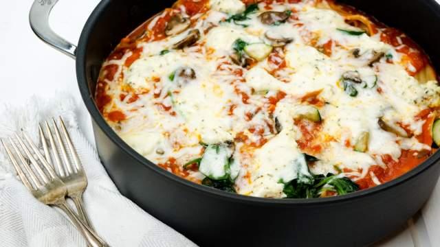 Stovetop Spinach and Mushroom Lasagna and a Giveaway!