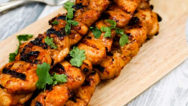 Sriracha Teriyaki Chicken Skewers