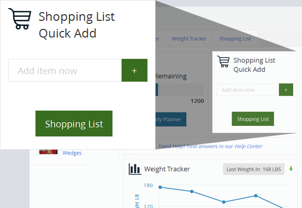 Shopping List Quick Add Widget